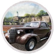 Round Beach Towel featuring the photograph Brown Classic Collector by Liane Wright