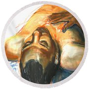 Round Beach Towel featuring the drawing Brown Sugar by Gabrielle Wilson-Sealy