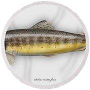 Brown Trout - Salmo Trutta Morpha Fario - Salmo Trutta Fario - Game Fish - Flyfishing Round Beach Towel