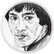 Bruce Lee Round Beach Towel by Teresa White