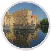 Bruge Reflections Round Beach Towel