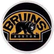 Bruins In Boston Round Beach Towel
