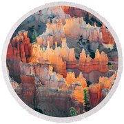 Bryce Canyon At Sunrise Round Beach Towel