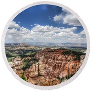 Round Beach Towel featuring the photograph Bryce Point by Tammy Wetzel