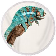 B.summers Panther Chameleon Round Beach Towel
