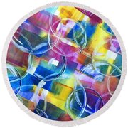 Bubble Fun Round Beach Towel