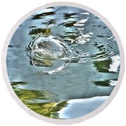 Bubble Reflection Round Beach Towel