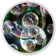 Bubbles And More Bubbles Round Beach Towel