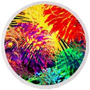 Round Beach Towel featuring the photograph Bubbles by Geraldine DeBoer