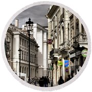 Bucharest The Little Paris Round Beach Towel