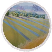 Buck Mountain Vineyards No.2 Round Beach Towel