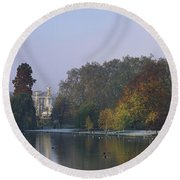 Buckingham Palace, City Of Westminster Round Beach Towel