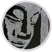 Buddha I Round Beach Towel