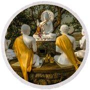 Buddha Lessons Round Beach Towel
