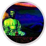 Buddha Round Beach Towel by Susanne Still