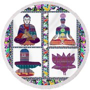 Buddha Yoga Chakra Lotus Shivalinga Meditation Navin Joshi Rights Managed Images Graphic Design Is A Round Beach Towel