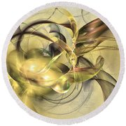 Budding Fruit - Abstract Art Round Beach Towel