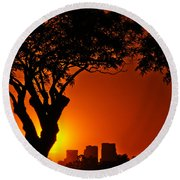 Buenos Aires At Sunset Round Beach Towel