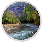 Buffalo River Downstream Round Beach Towel