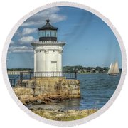 Round Beach Towel featuring the photograph Bug Light by Jane Luxton