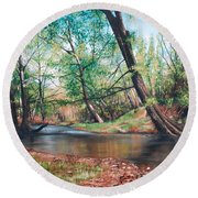 Bull Creek Round Beach Towel