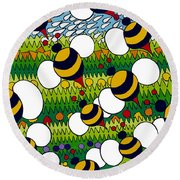 Bumble Round Beach Towel