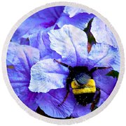Bumblebee Brunch Round Beach Towel