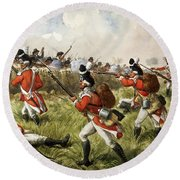 Bunkers Hill, 1775 Round Beach Towel