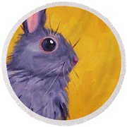 Bunny Round Beach Towel by Nancy Merkle