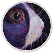 Bunny Thoughts Round Beach Towel