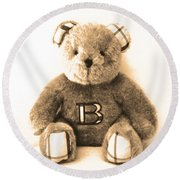 Burberry Bear Round Beach Towel by Gina Dsgn