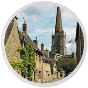 Burford Village Street Round Beach Towel