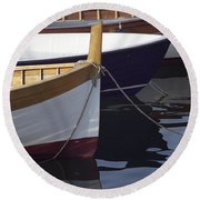 Burgundy Boat Round Beach Towel