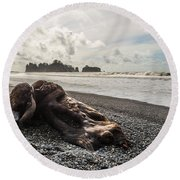 Buried Round Beach Towel