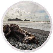Buried Round Beach Towel by Kristopher Schoenleber