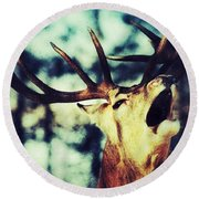 Burling Deer Round Beach Towel