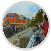 Burlington Northern Santa Fe Round Beach Towel