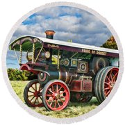 Burrell Showmans Engine Round Beach Towel