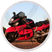 Busa Round Beach Towel by David S Reynolds