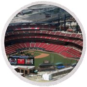 Busch Memorial Stadium Round Beach Towel