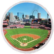 Busch Stadium Sep 29 2013 2 Round Beach Towel