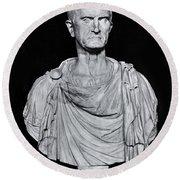 Bust Of Marcus Licinius Crassus Round Beach Towel