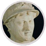 Bust Of Pyrrhus Round Beach Towel