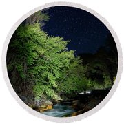 Round Beach Towel featuring the photograph Busy Night by David Andersen