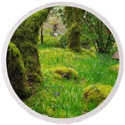 Round Beach Towel featuring the photograph Butchart Gardens - Vancouver Island by Marilyn Wilson