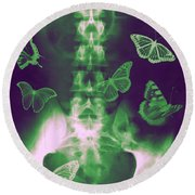 Butterflies In The Stomach Round Beach Towel
