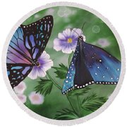 Butterfly #2 Round Beach Towel