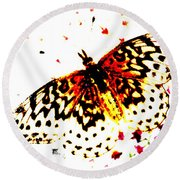 Butterfly 4 Round Beach Towel