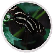 Butterfly Art 2 Round Beach Towel