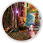 Butterfly Ball Party Round Beach Towel